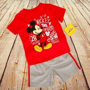 Disney Junior Boys Red 2 Piece Short & Shirt Set